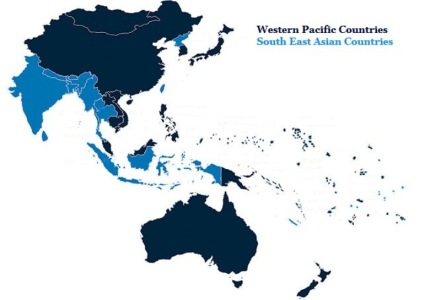 South East Asian and Western Pacific Countries